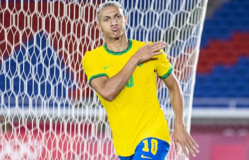 奥运-巴西4-2轻取德国 理查利森30分钟戴帽阿诺尔德染红